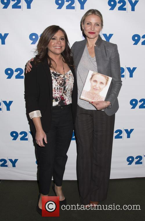 Cameron Diaz with Rachael Ray at 92Y