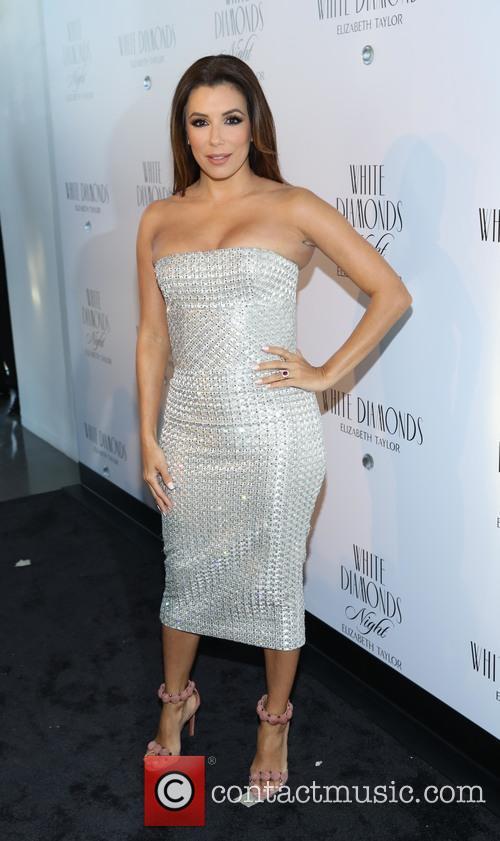 Eva Longoria co-hosts White Diamonds Elizabeth Taylor fragrance...