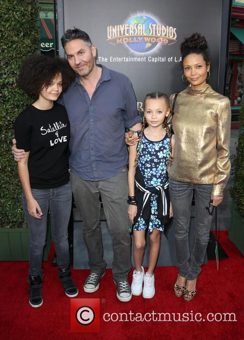 Thandie Newton, Ol Parker, Ripley Parker, Booker Jombe Parker and Nico Parker 4