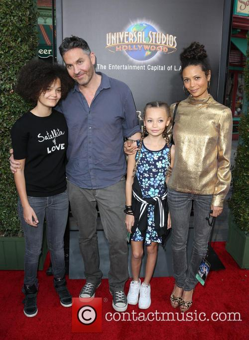 Thandie Newton, Ol Parker, Ripley Parker, Booker Jombe Parker and Nico Parker 5