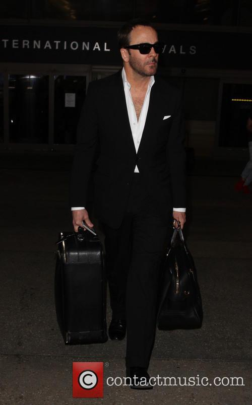 Tom Ford arrives at LAX