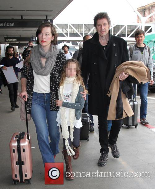 Milla Jovovich, Paul W. S. Anderson and Ever Gabo Anderson 4