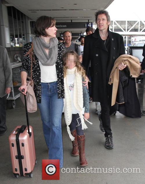 Milla Jovovich, Paul W. S. Anderson and Ever Gabo Anderson 5