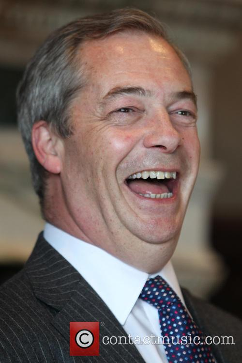 UKIP leader Nigel Farage holds a press conference...