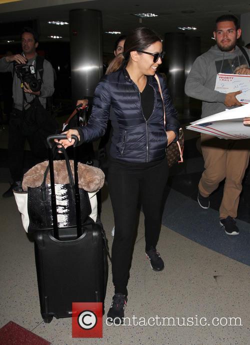 Eva Longoria arrives at LAX
