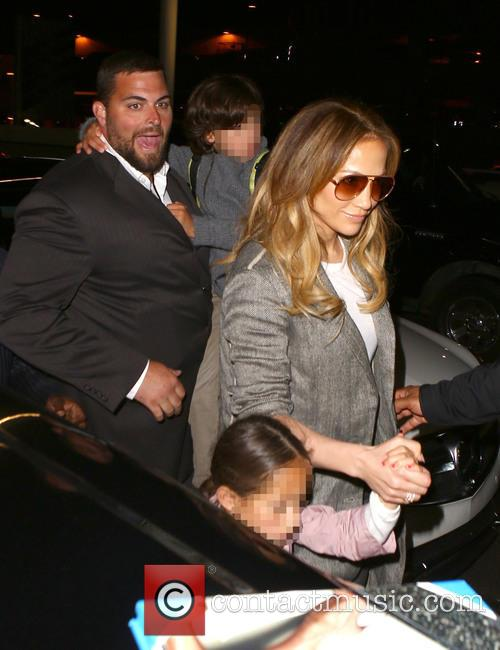 Jennifer Lopez, Maximilian David Muñiz and Emme Maribel Muñiz 10