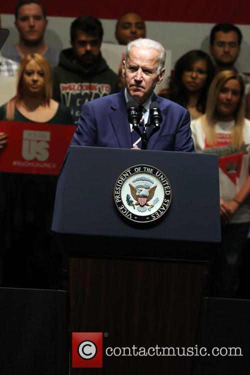 Lady Gaga and Vice President Joe Biden 6
