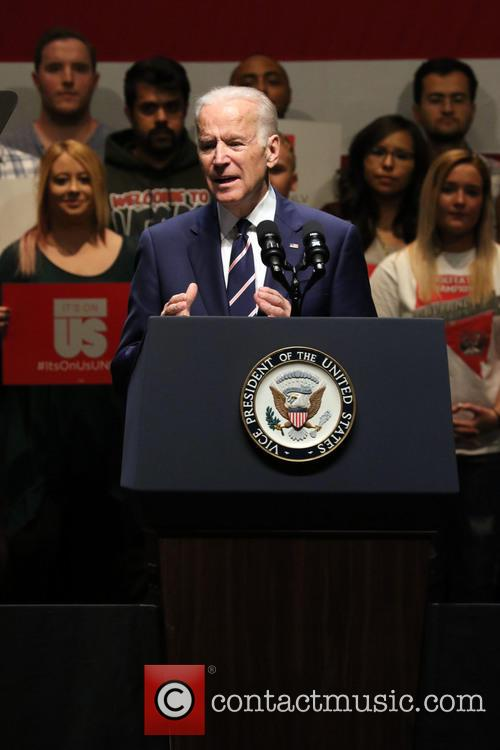 Lady Gaga and Vice President Joe Biden 7