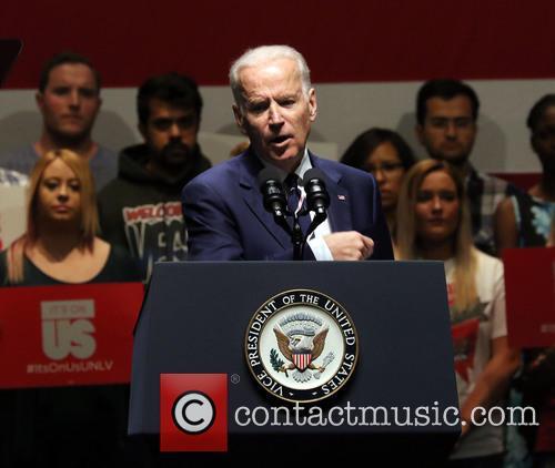 Lady Gaga and Vice President Joe Biden 8