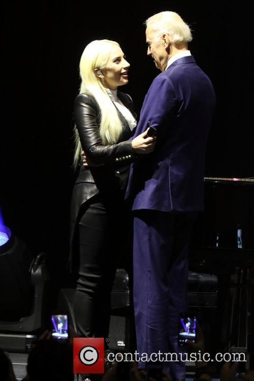 Lady Gaga and Vice President Joe Biden 10