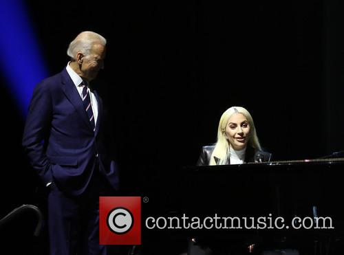 Lady Gaga and Vice President Joe Biden 11