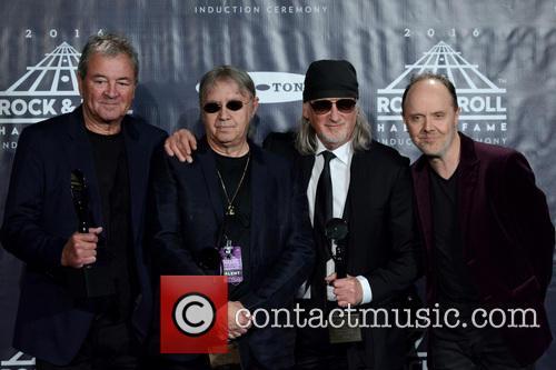 Ian Gillan, Ian Paice, Roger Glover and Lars Ulrich 1