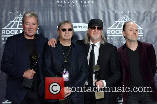 Ian Gillan, Ian Paice, Roger Glover and Lars Ulrich 2