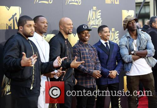 O'shea Jackson Jr., Corey Hawkins, Common, Jason Mitchell, Neil Brown Jr. and Aldis Hodge 1