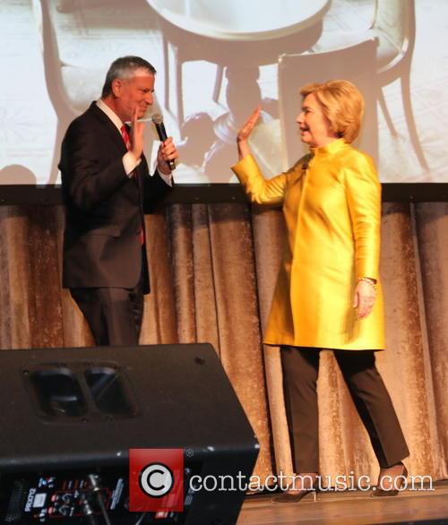 Bill De Blasio and Hillary Clinton 6