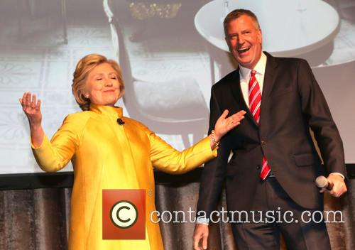 Hilary Clinton and Bill De Blasio 1
