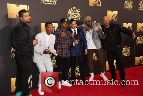 O'shea Jackson Jr., Corey Hawkins, Jason Mitchell, Neil Brown Jr., Aldis Hodge and Common 10
