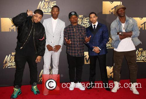 O'shea Jackson Jr., Corey Hawkins, Jason Mitchell, Neil Brown Jr. and Aldis Hodge 11