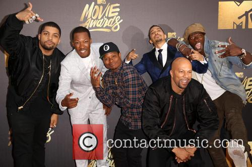 O'shea Jackson Jr., Corey Hawkins, Jason Mitchell, Neil Brown Jr., Aldis Hodge and Common