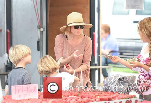 Julie Bowen entertains her three boys at the...