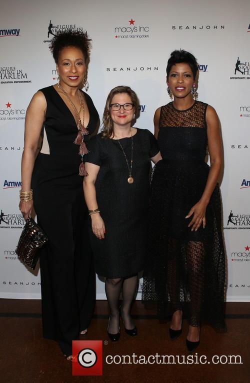Tamara Tunie, Sharon Cohen and Tamron Hall 3