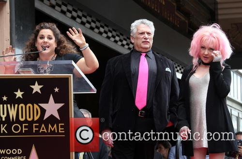Marissa Jaret Winokur, Harvey Fierstein and Cyndi Lauper 1