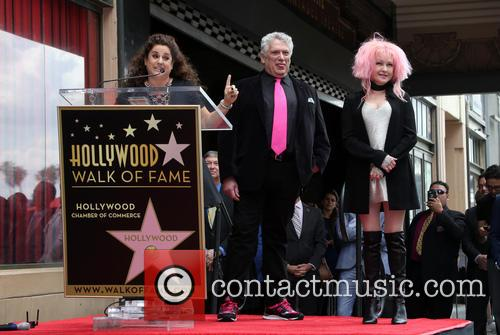 Marissa Jaret Winokur, Harvey Fierstein and Cyndi Lauper 3