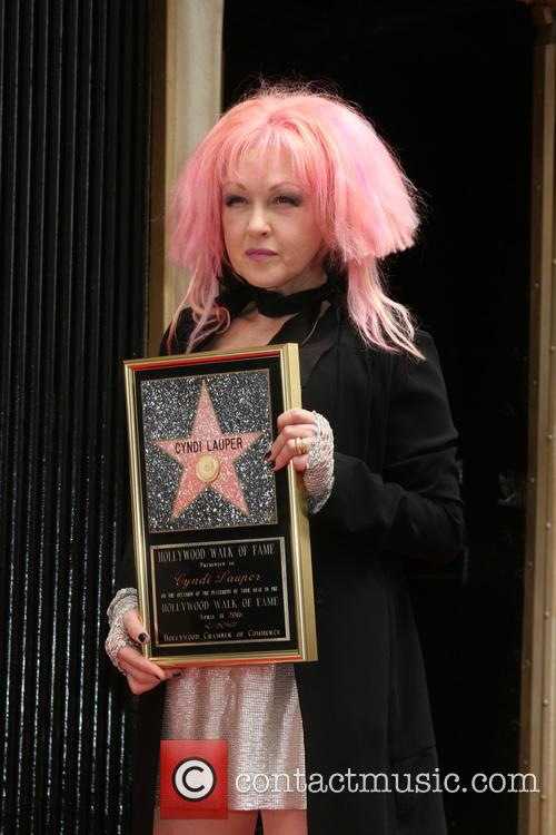 Cyndi Lauper Receives Star On Hollywood Walk Of Fame [Pictures]