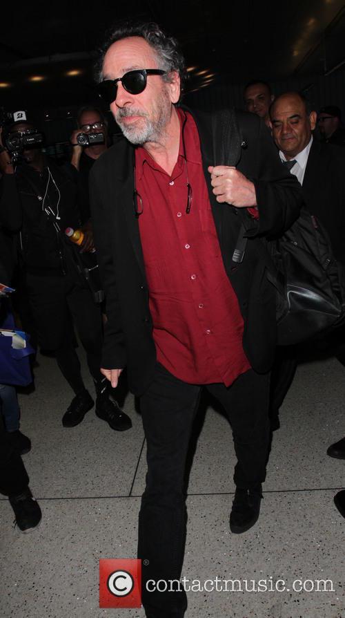 Tim Burton arrives at LAX