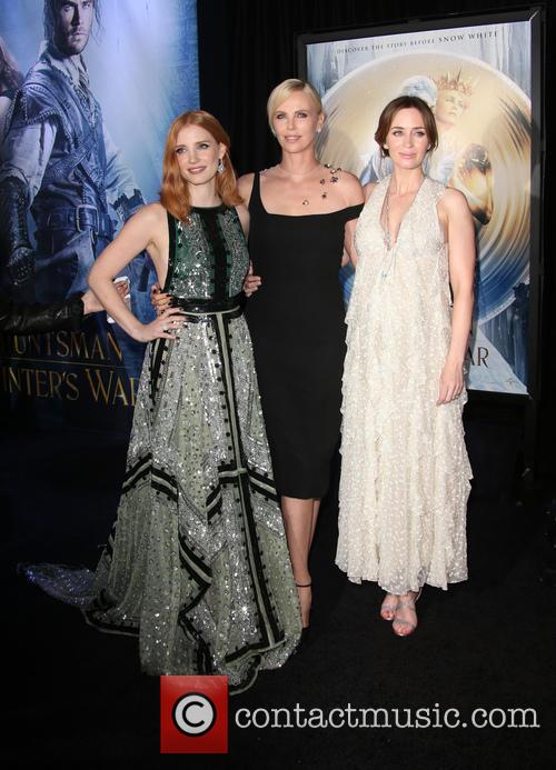 Jessica Chastain, Charlize Theron and Emily Blunt 9