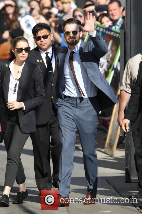 Chris Evans arrives at ABC studios