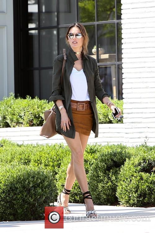 Alessandra Ambrosio seen leaving Gracias Madre restaurant