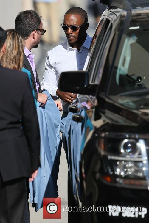 Anthony Mackie seen arriving at the ABC studios