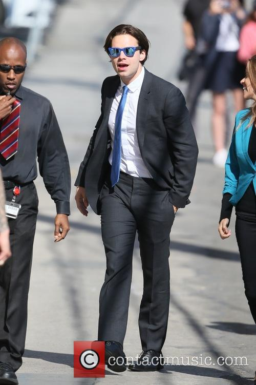 Sebastian Stan seen arriving at the ABC studios
