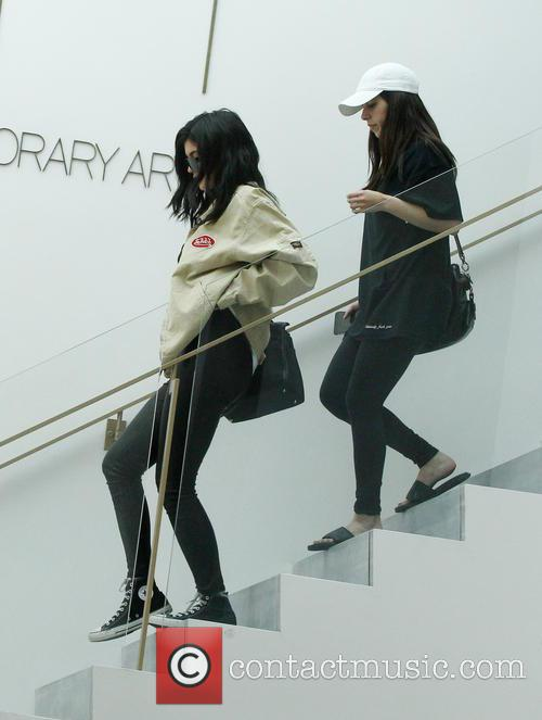 Kylie Jenner leaving the RH Contemporary Art gallery...