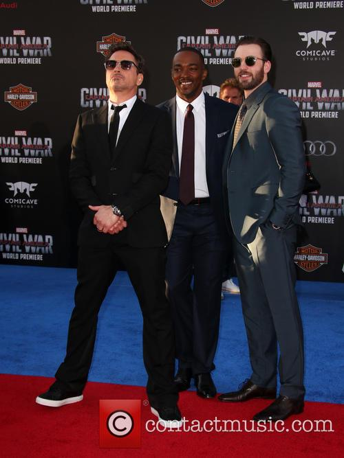 Robert Downey Jr., Anthony Mackie and Chris Evans 2