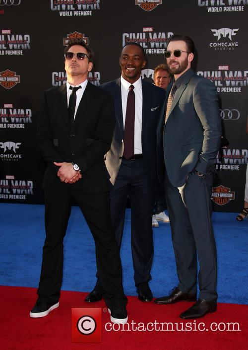 Robert Downey Jr., Anthony Mackie and Chris Evans 3