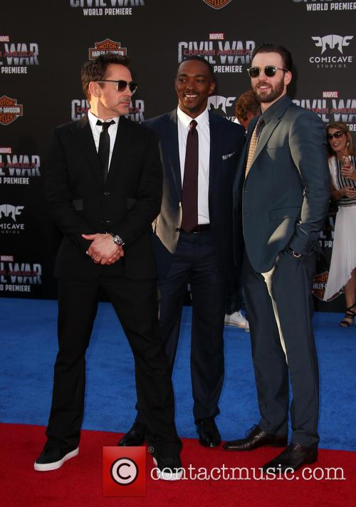 Robert Downey Jr., Anthony Mackie and Chris Evans 5