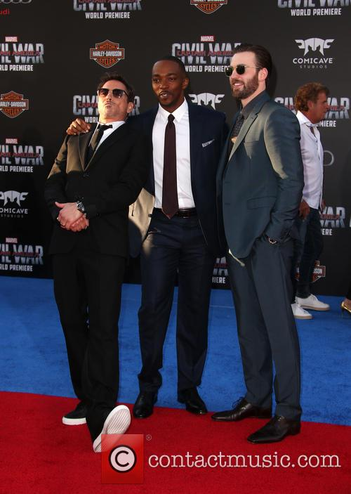 Robert Downey Jr., Anthony Mackie and Chris Evans 6