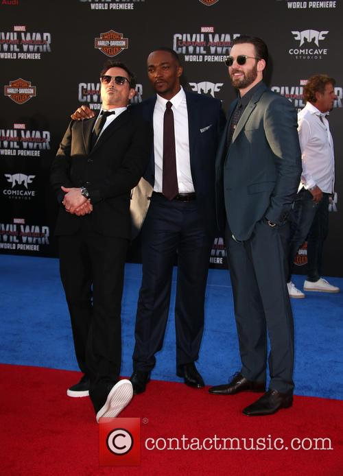 Robert Downey Jr., Anthony Mackie and Chris Evans 7