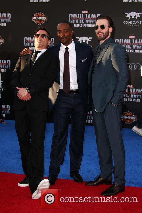 Robert Downey Jr., Anthony Mackie and Chris Evans 8