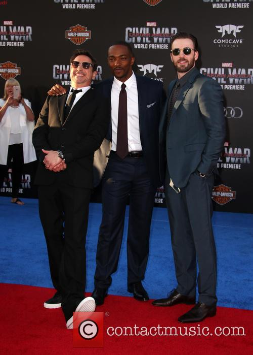 Robert Downey Jr., Anthony Mackie and Chris Evans 9