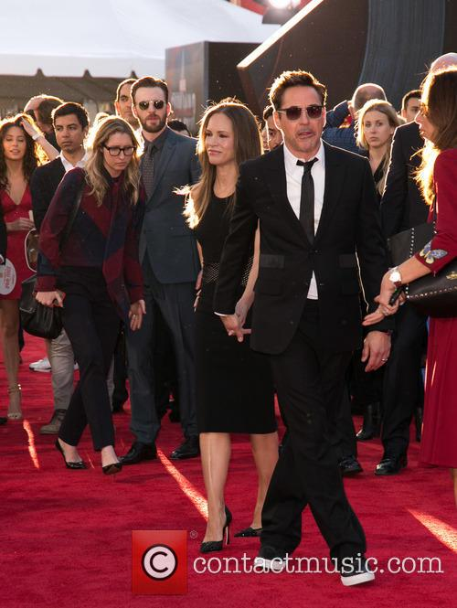 Chris Evans, Susan Downey and Robert Downey Jr. 5