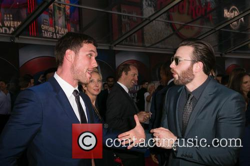 Ed Skrein and Chris Evans 1
