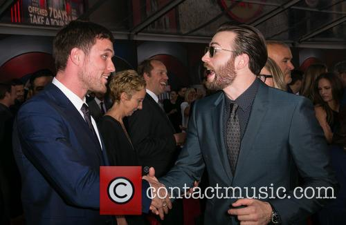 Ed Skrein and Chris Evans 2