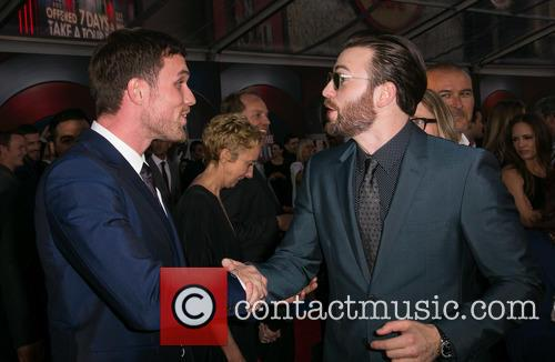 Ed Skrein and Chris Evans 3