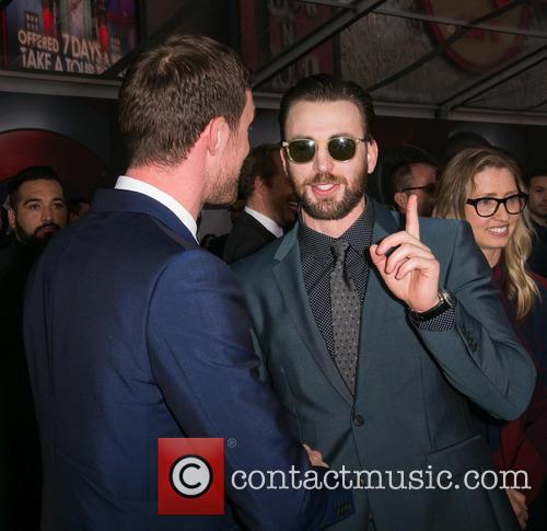 Ed Skrein and Chris Evans 4