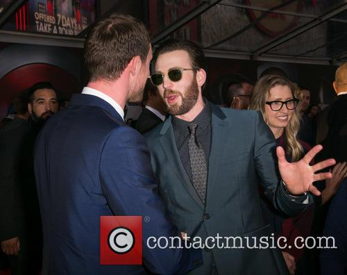 Ed Skrein and Chris Evans 5