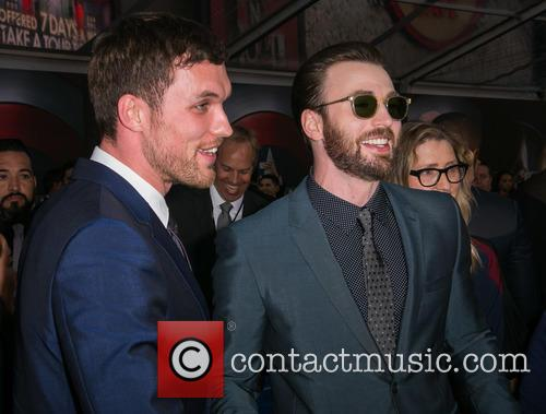 Ed Skrein and Chris Evans 8