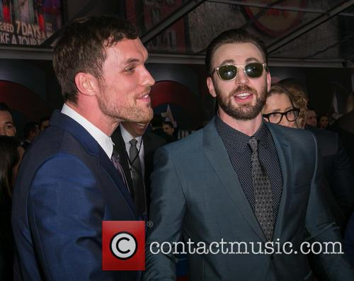 Ed Skrein and Chris Evans 9
